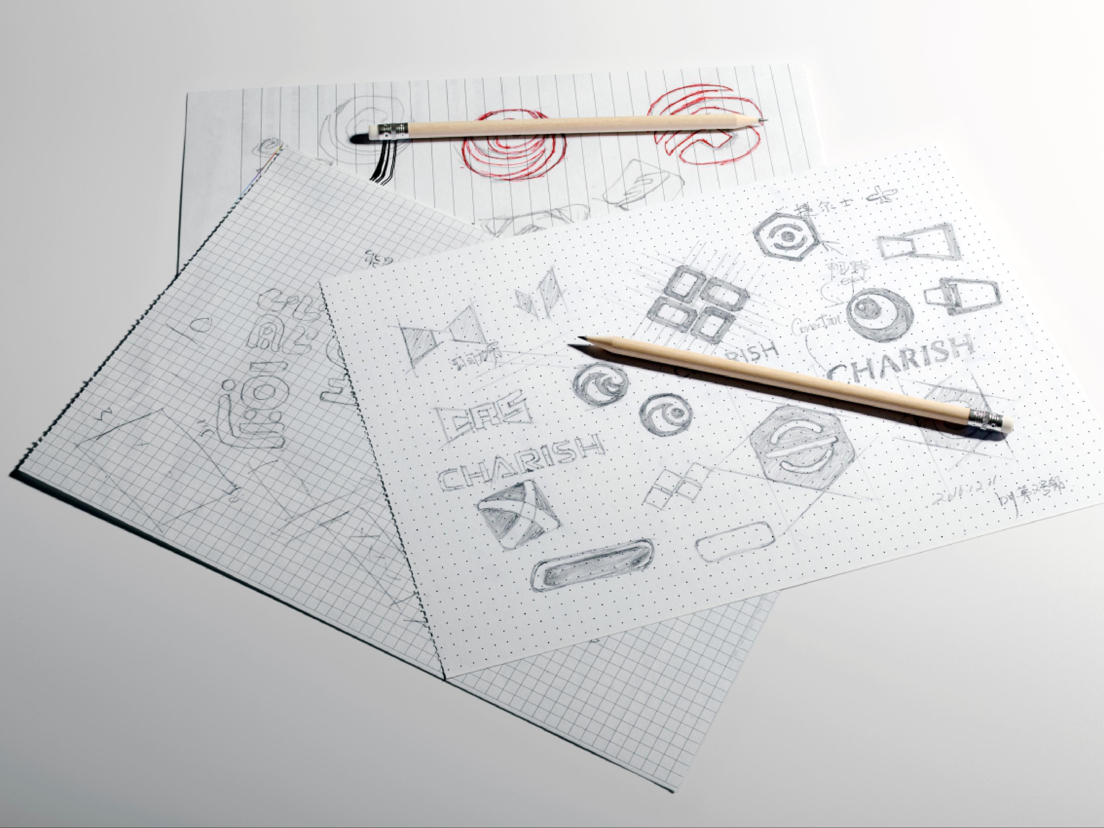 CHARISH公司LOGO手绘图